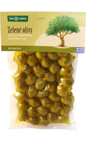bio*nebio  Bio zelené olivy v extra panenském olivovém oleji