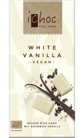 iChoc Vegan bílá čokoláda s vanilkou BIO