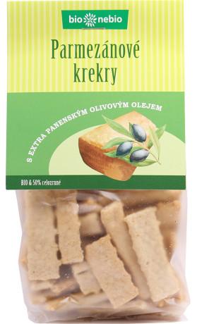 bio*nebio Parmezánové krekry s olivovým olejem BIO