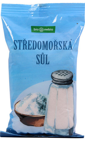 bio*nebio  Středomořská sůl nerafinovaná