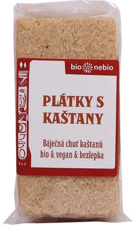 bio*nebio  Bio plátky křupavé s kaštany 49 g