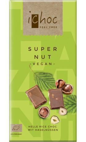 iChoc Vegan čokoláda s oříšky BIO