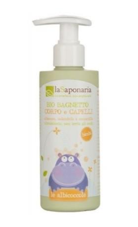laSaponaria Jemný tělový a vlasový mycí gel pro děti BIO