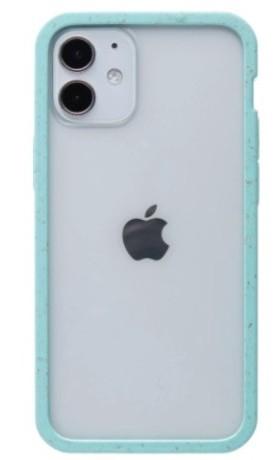 Pela Case Kompostovatelný obal na iPhone 12 Mini - Clear with Purist Blue Ridge