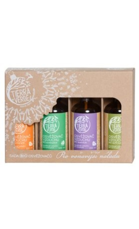 Tierra Verde Sada BIO osvěžovačů – Pro voňavější náladu (4x100 ml)