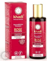 Khadi šampón RŮŽE reparační a hydratační
