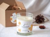 Jemnô Vánoce, zdravá sójová svíčka s vůní hřebíčku, pomeranče a skořice