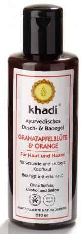 Khadi sprchový gel GRANÁTOVÉ JABLKO & POMERANČ (i na vlasy)