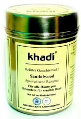 Khadi pleťová bylinná maska SANTALOVÉ DŘEVO na všechny typy, i citlivou