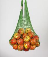 Česká síťovka Síťová taška bavlněná pružná - tmavě zelená