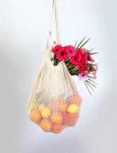 Česká síťovka Síťová taška přes rameno hustooká  - natural