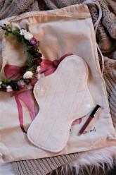 LalaH Noční látková menstruační vložka BIO beránek PUL (30 cm)