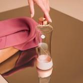 Equa Skleněná lahev z borosilikátového skla Metalic Rose Gold