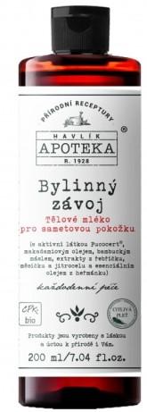 Havlíkova přírodní apotéka Bylinný závoj, tělové mléko pro sametovou pokožku