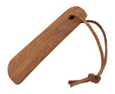 Redecker Dřevěná lžíce na boty s koženou šňůrkou z dubového dřeva 11,5 cm
