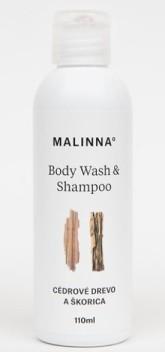 MALINNA° Šampon a sprchový gel Cedrové dřevo a skořice