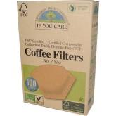 IF YOU CARE Filtry na kávu velikost 2  v balení 100 ks