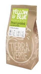 Yellow&Blue Prací prášek z mýdlových ořechů na bílé prádlo a látkové pleny (pap.sáček 850 g)