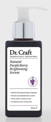Dr. Craft Přírodní sérum na vlasy neutralizující žluté a mosazné tóny ve vlasech