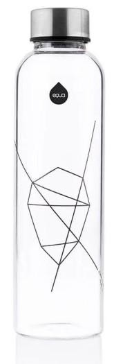 Equa Skleněná lahev z borosilikátového skla MISMATCH BLACK