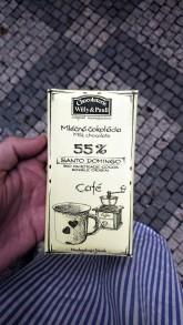 Chocolaterie Willy a Pauli BIO Mléčná čokoláda Santo Domingo 55% s mletou kávou