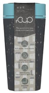 rCUP termohrnek z jednorázových papírových kelímků černá/tyrkysová