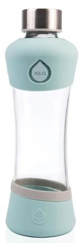 EQAU Skleněná lahev z borosilikátového skla ACTIVE MINT