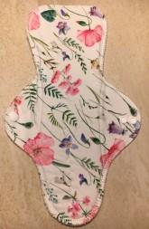 LalaH Noční menstruační vložka látková s PUL / malovaná louka (30 cm)