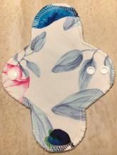 LalaH Intimka látková menstruační vložka prodyšná / květiny (18 cm)