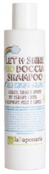 laSaponaria 2v1 Pánský sprchový gel a šampon s konopím BIO