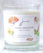 Jemnô Cesta Orientem, zdravá sójová svíčka s vůní smyslnou a něžnou
