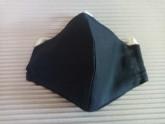 Rouška 100% bavlna černá větší pro muže s kapsou na filtr