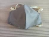 Rouška 100% bavlna šedá větší pro muže s kapsou na filtr