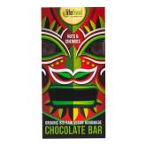 Čokoláda z nepraženého kakaa s kousky ořechů a třešní 70 g BIO   LIFEFOOD