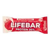 Tyčinka Lifebar protein jahodová 47 g BIO   LIFEFOOD