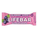 Tyčinka Lifebar borůvková s quinoou 47 g BIO   LIFEFOOD