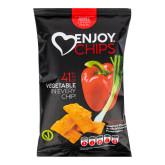 Enjoy Chips s červenou paprikou a jarní cibulkou 40 g   NEW DELESPINE