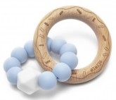 Mimijo silikonové kousátko světlo-modrý Donut