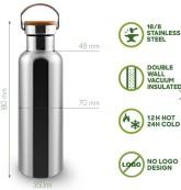 Bambaw Nerezová termoska na vodu - malá