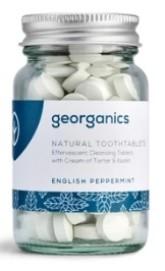Georganics Zubní pasta v tabletkách - English Peppermint (anglická máta)