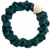 byEloise Gumička Gold Heart Silk Scrunchie Chive Green