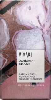 Hořká čokoláda s mandlemi BIO VIVANI