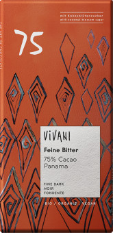 Hořká čokoláda 75% s kokosovým cukrem BIO VIVANI
