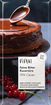 Hořká čokoláda na vaření BIO VIVANI