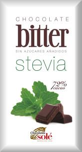 SOLÉ  Hořká čokoláda 72% se stévií bez cukru