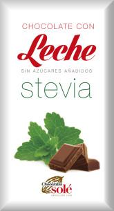 SOLÉ  Mléčná čokoláda se stévií bez cukru