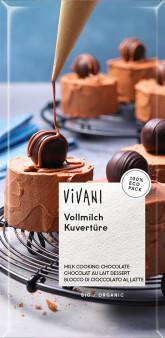 VIVANI Mléčná čokoláda na vaření BIO