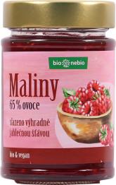 bio*nebio  Bio Maliny - zavařenina s jablečnou šťávou