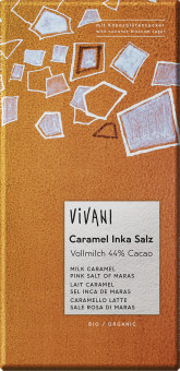 VIVANI Mléčná čokoláda s karamelem a solí BIO