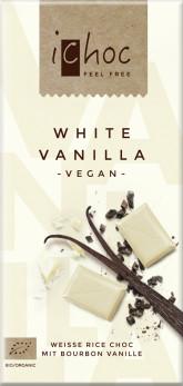 iChoc Bio vegan bílá čokoláda s vanilkou